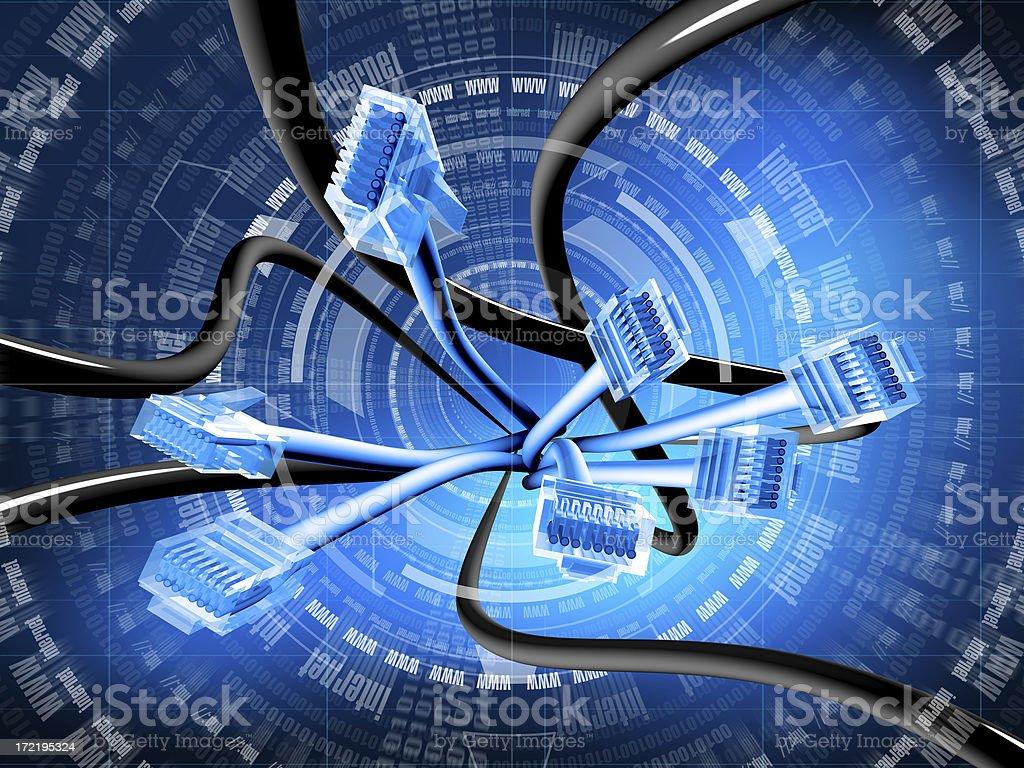 internet (blue) stock photo