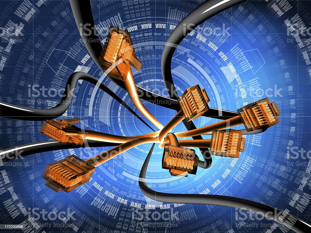 internet (orange) stock photo
