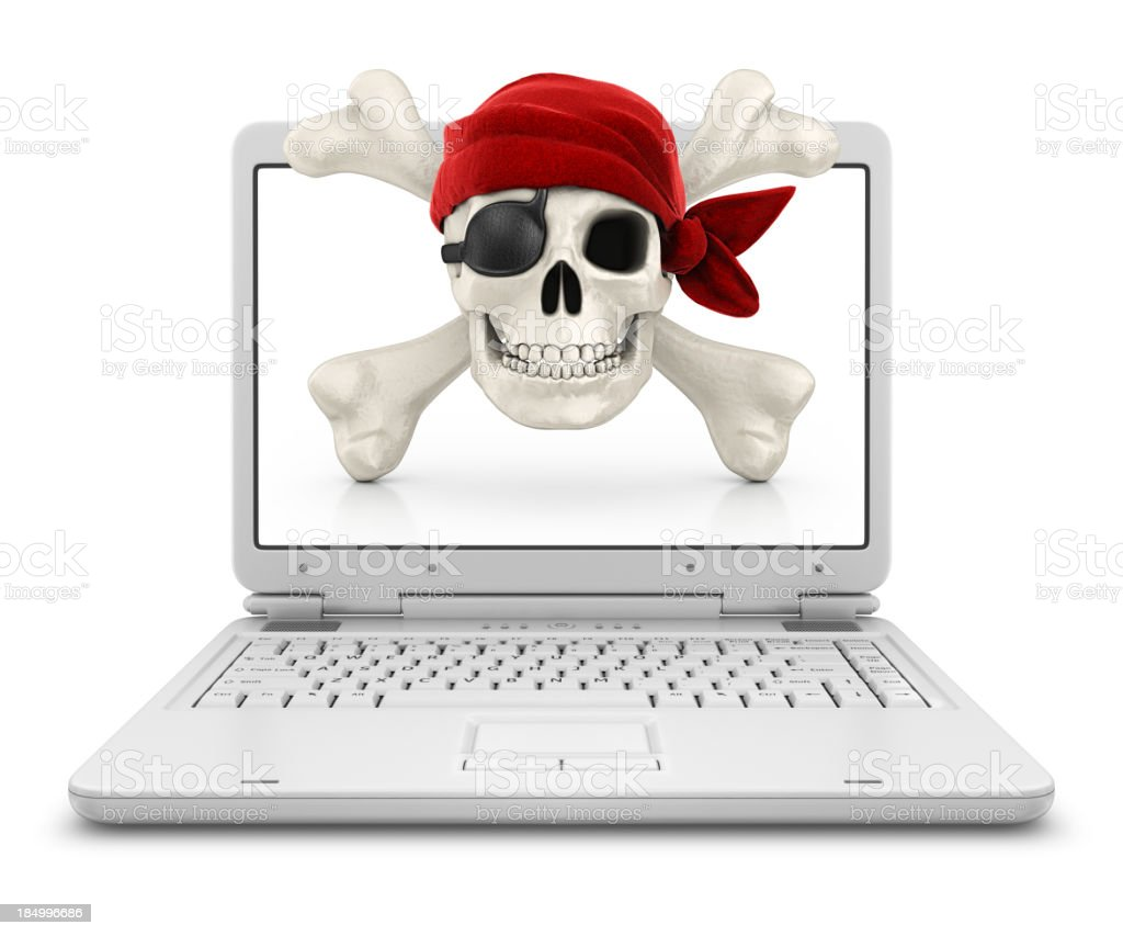 internet piracy royalty-free stock photo