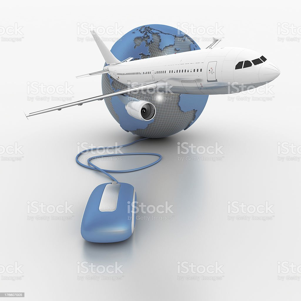 Internet planned travel royalty-free stock photo