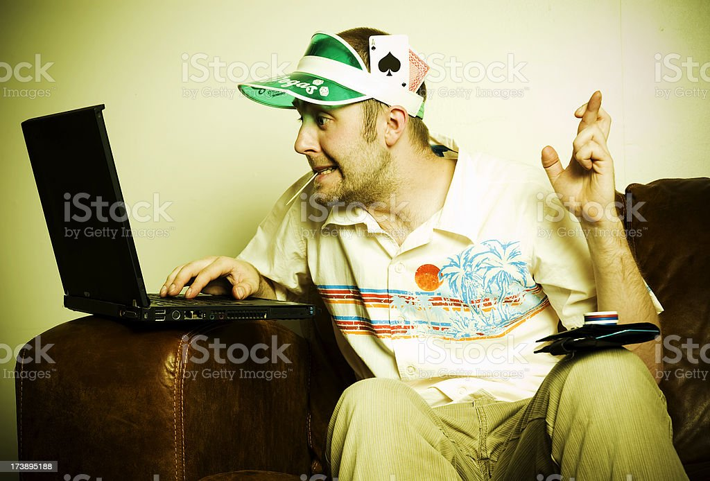 Internet Poker Player stock photo