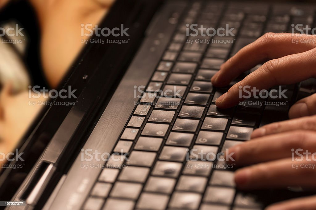 Internet porn concept stock photo