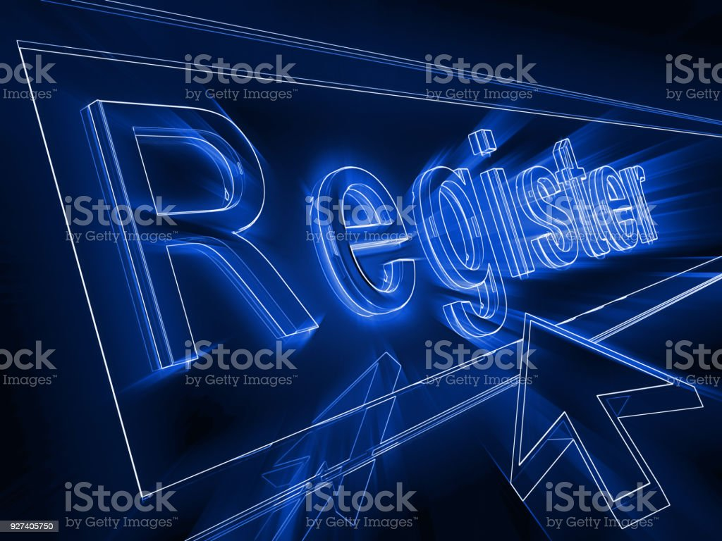 Internet register subscribe subscription concept stock photo