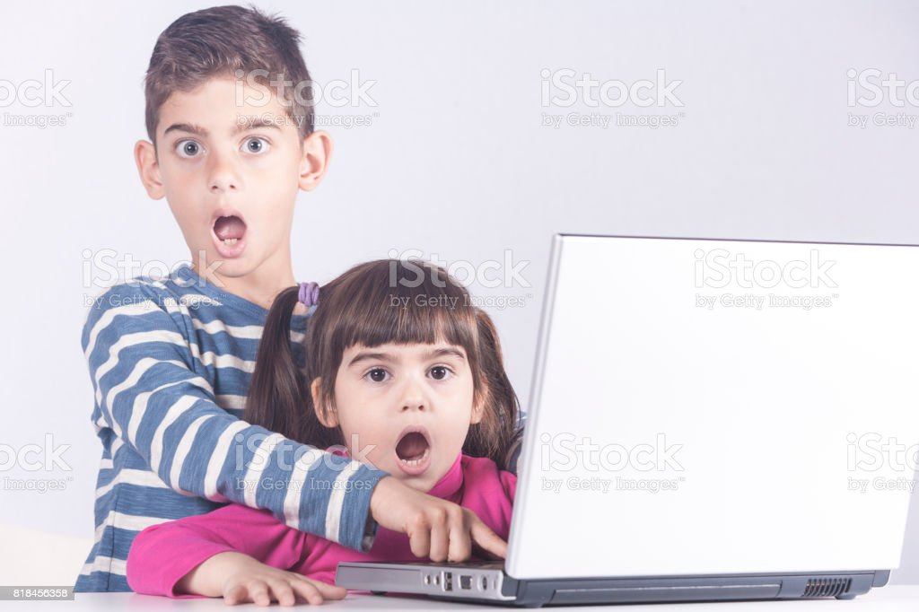 Internet safety and parental control concept stock photo