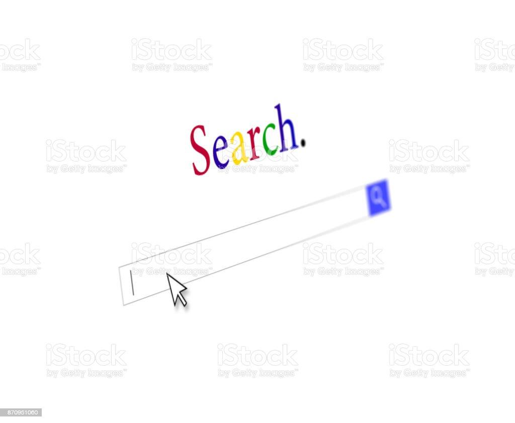 Internet Suche Webseite Eingabe Textfeld Mauszeiger und Schaltfläche – Foto