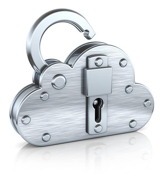 Internet-security-Konzept Wolke Vorhängeschloss – Foto
