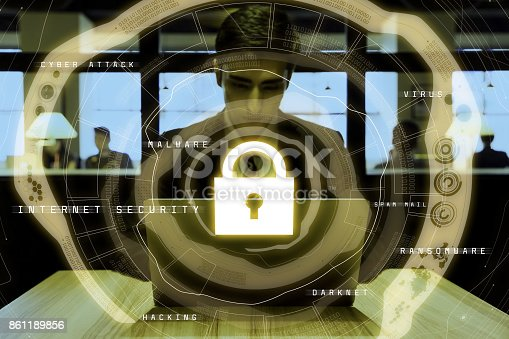 istock internet security concept. cyber security. 861189856