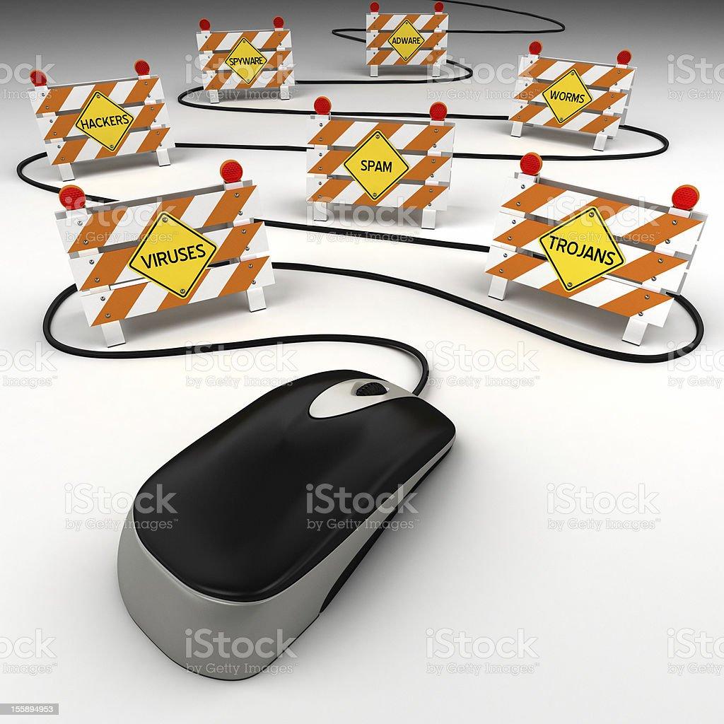 Internet security threats royalty-free stock photo