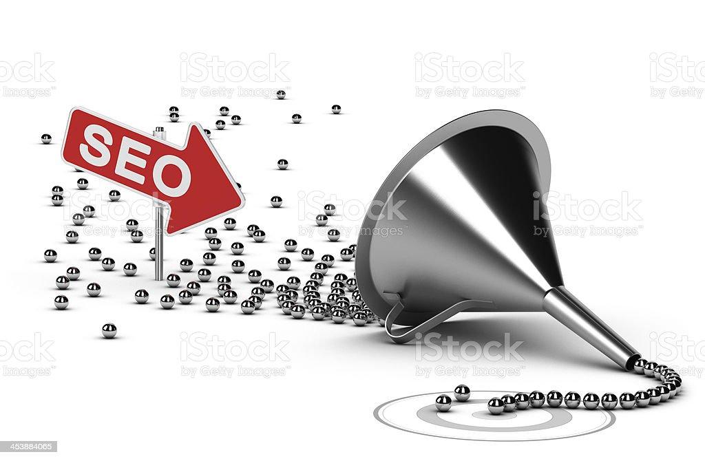 Internet SEO Campaign Concept stock photo