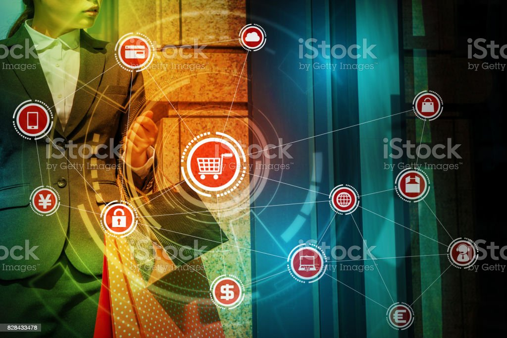 internet shopping concept. commerce. sell over the Internet. stock photo