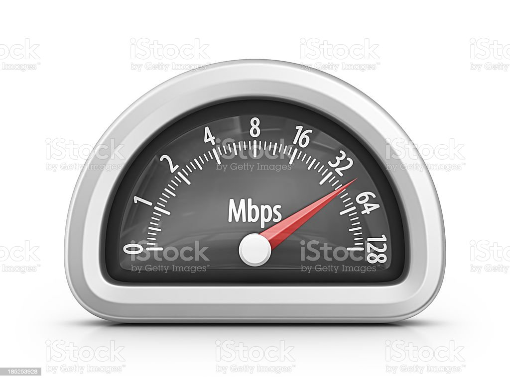internet speedometer royalty-free stock photo