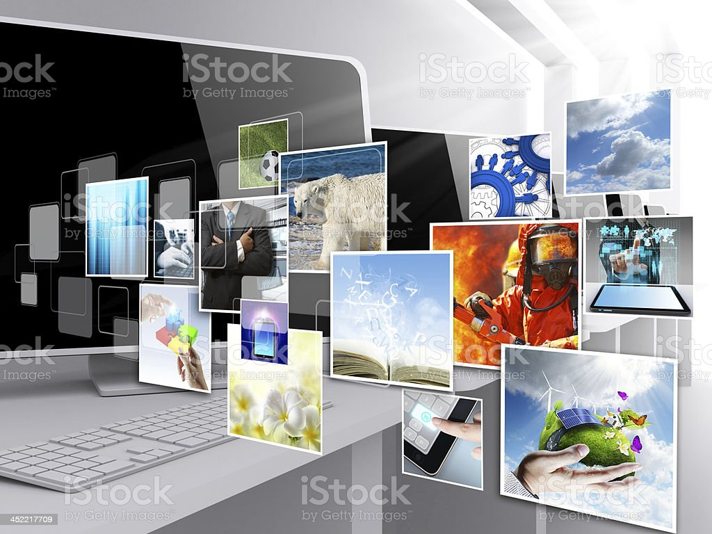 internet streaming images stock photo