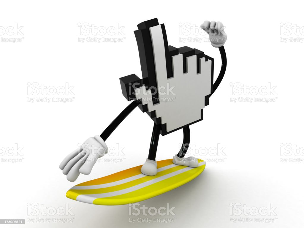 Internet surfing royalty-free stock photo