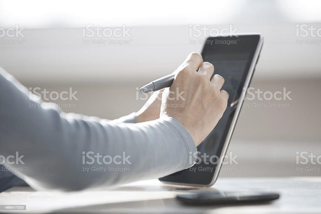 Internet surfing stock photo