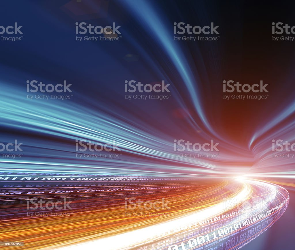 Internet telecommunications network stock photo
