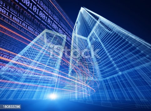 istock Internet telecommunications network 180833296