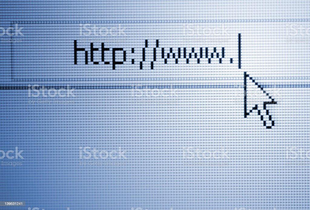 Internet url stock photo