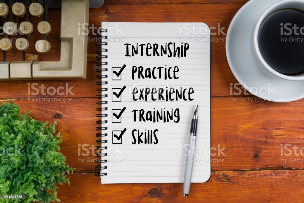 Internship - Business and Education Concept. stock photo