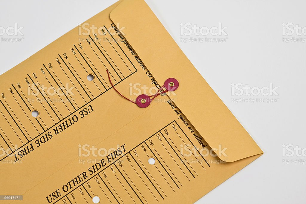Inter-Office Mail Series royalty-free stock photo