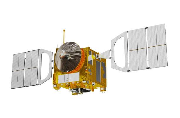 Interplanetary Space Station Isolated On White Background stock photo