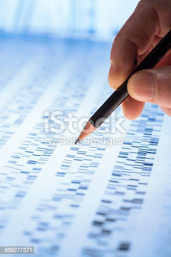 Scientists examined DNA gel as it is used in genetics, medicine, biology, pharma research and forensics.