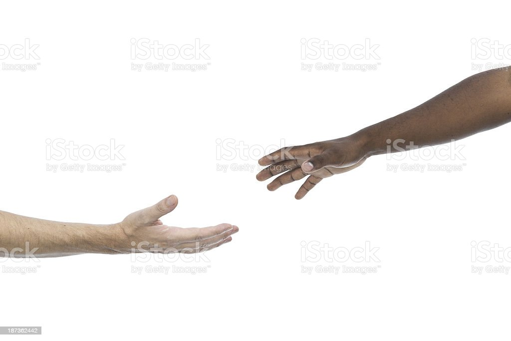 Interracial assistance stock photo