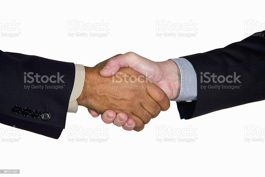 interracial business handshake royalty-free stock photo