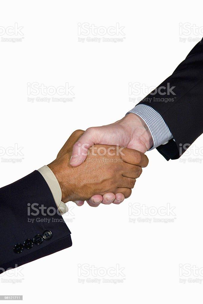Affari handshake interracial foto stock royalty-free
