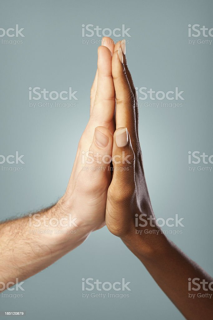 Interracial Couple stock photo