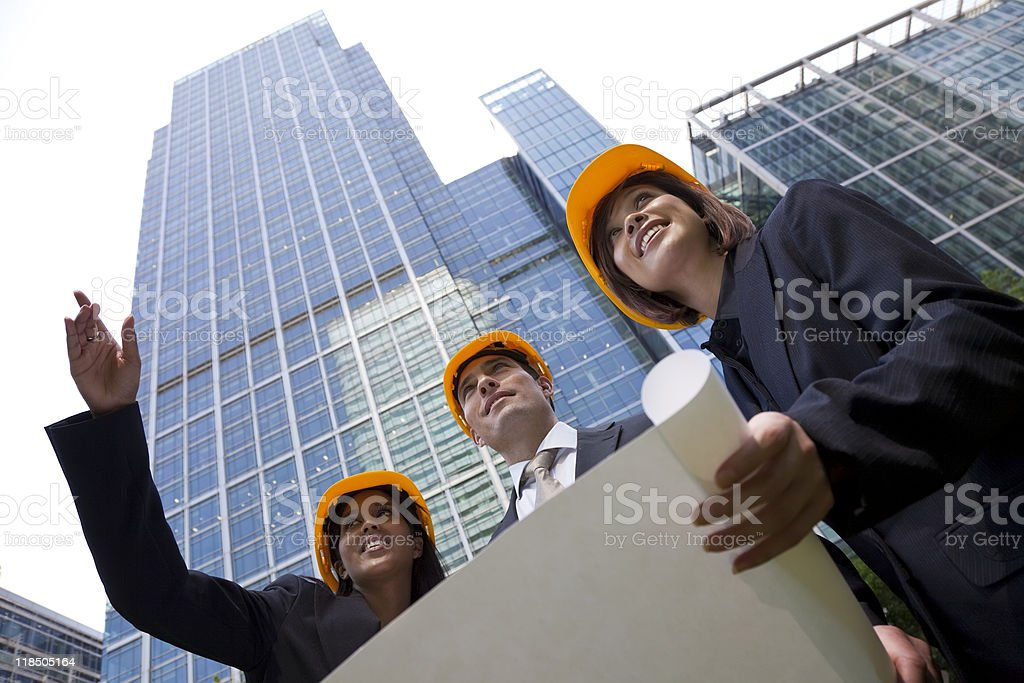 Interracial Male and Female Executive Construction Team royalty-free stock photo