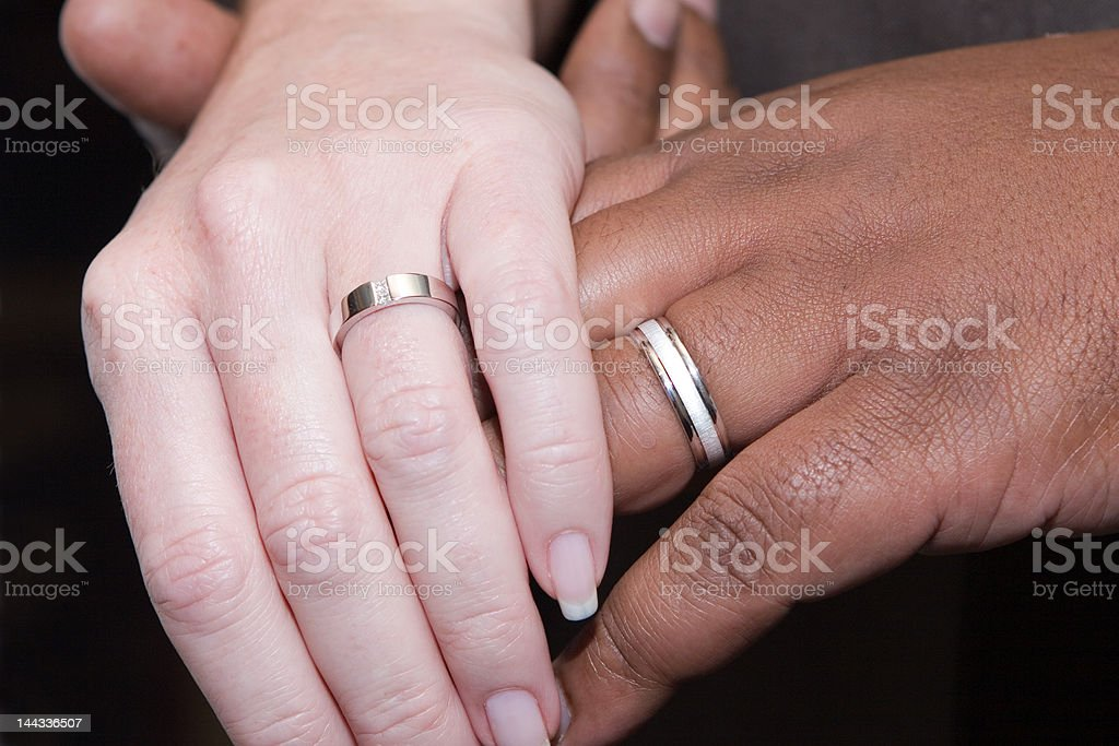 Inter-Racial Married Couple stock photo