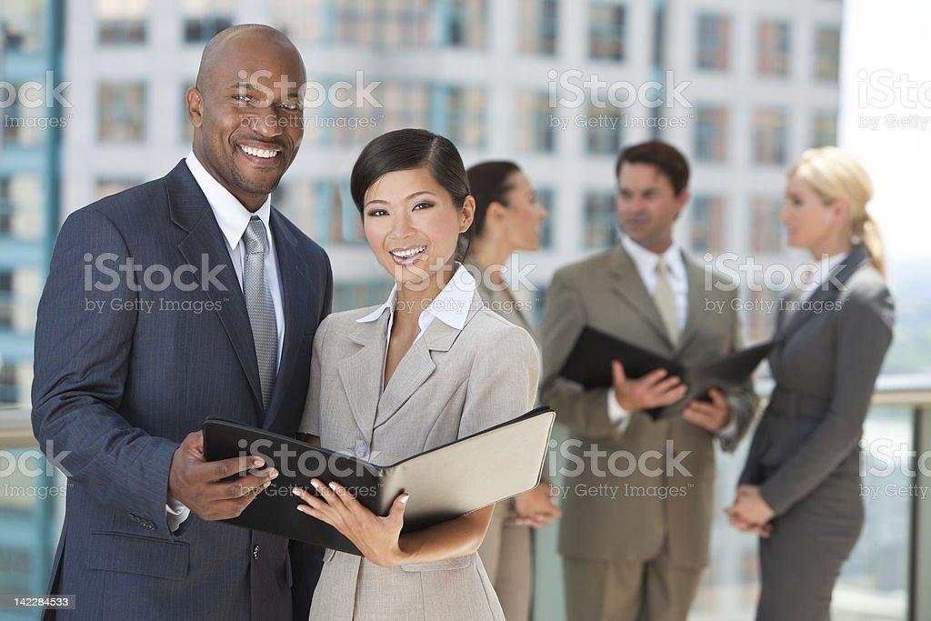 Interracial Men & Women City Business Team stock photo