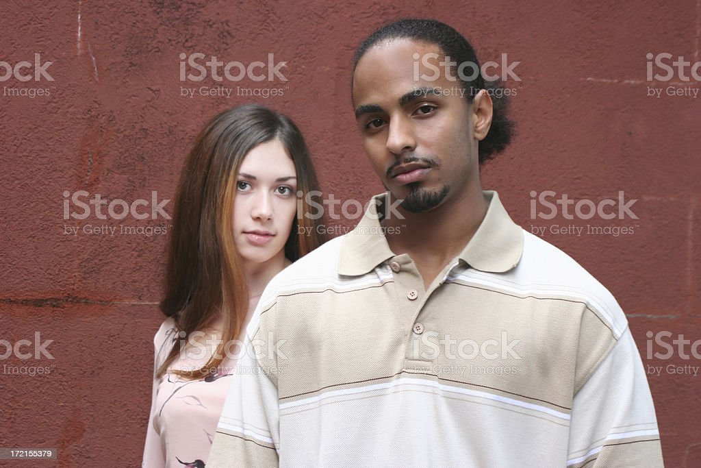 Interracial Students royalty-free stock photo