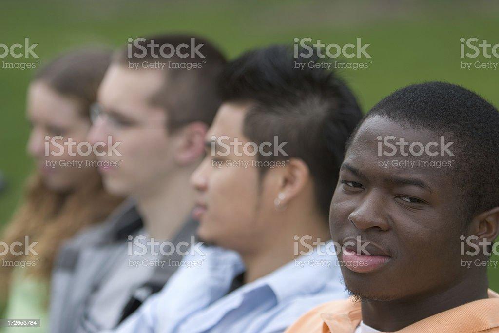 Interracial students stock photo