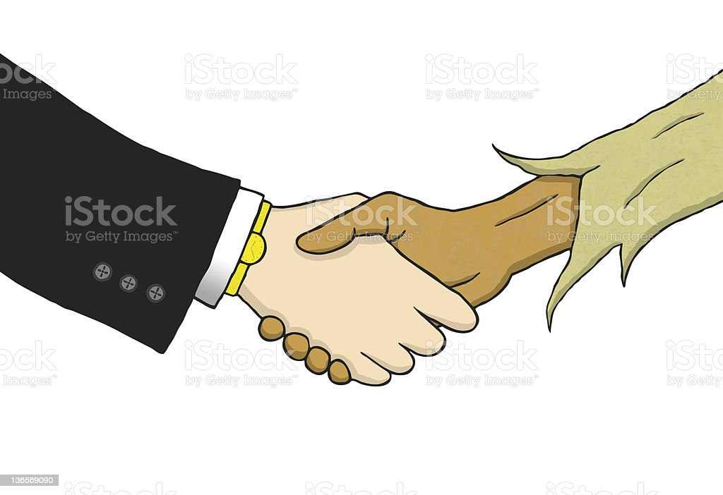 Interracial United Deal royalty-free stock photo