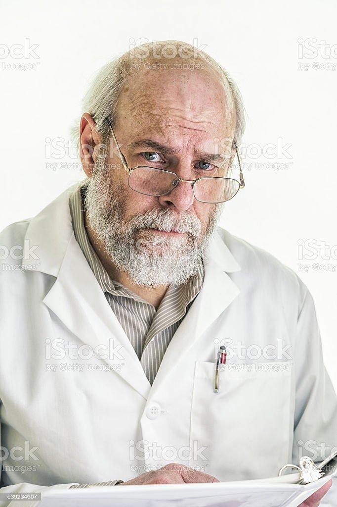 Interrompido profissional médico médico ouvir atentamente foto royalty-free