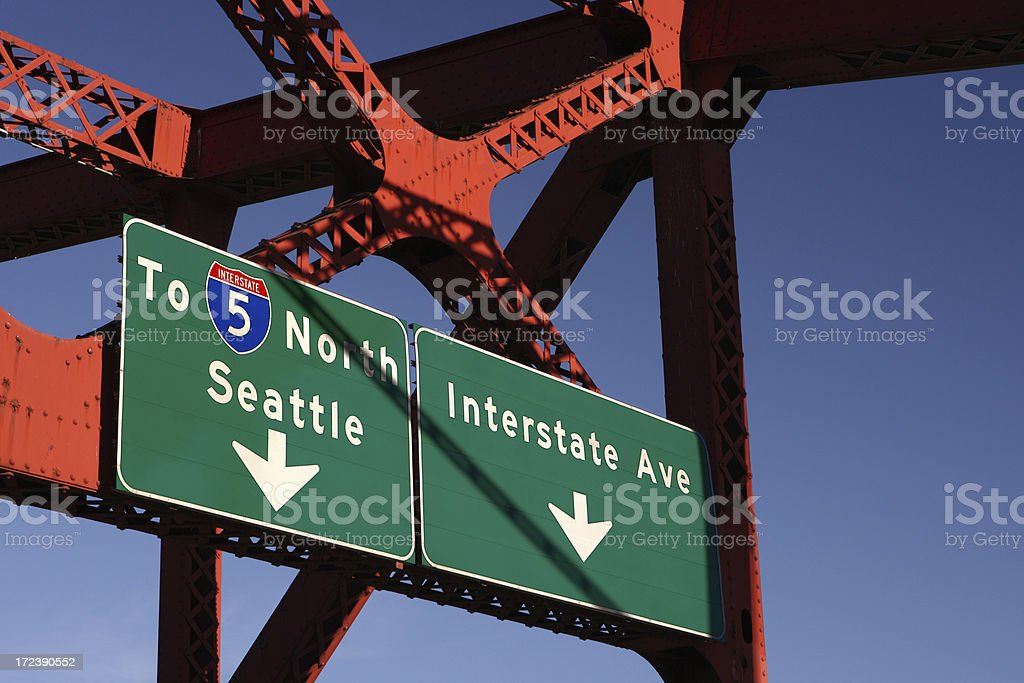 Intersate signs royalty-free stock photo