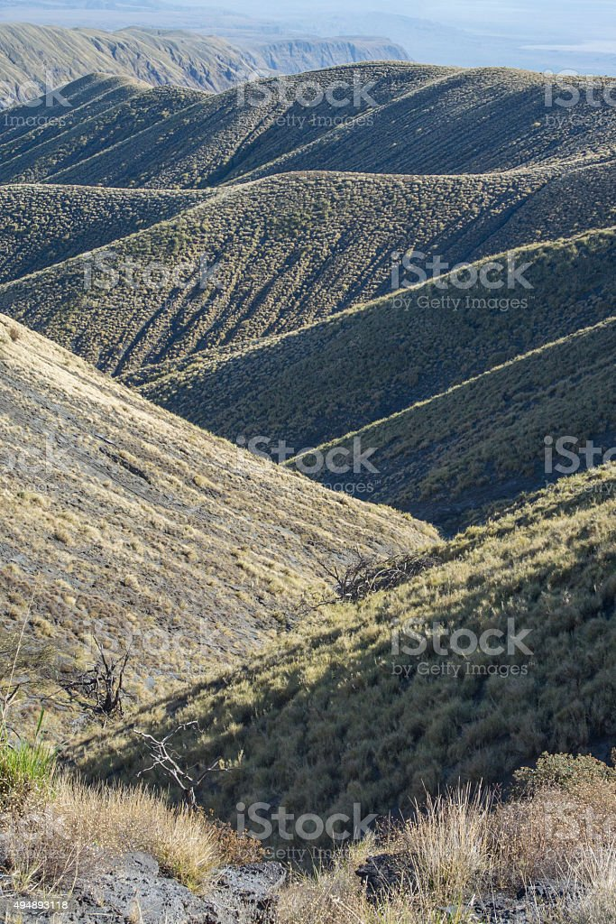 Intersecting Foothills of East African Rift Valley stock photo
