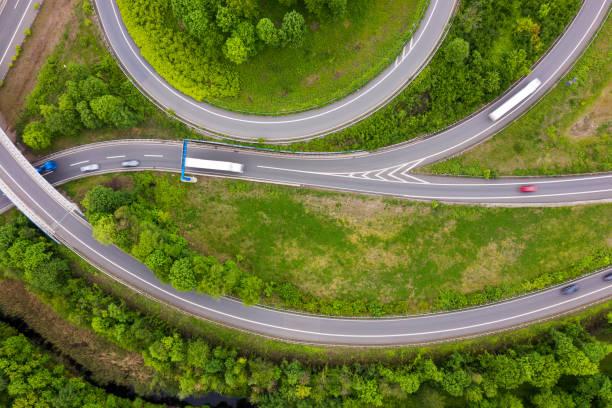 Fernstraßen von oben, Deutschland – Foto