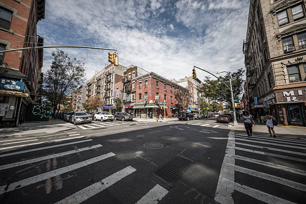 Intersection in Brooklyn, New York City, United States stock photo