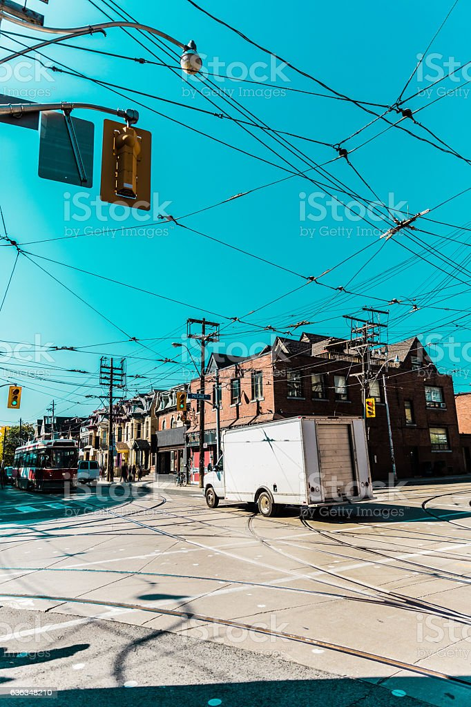 Intersection in Toronto stock photo