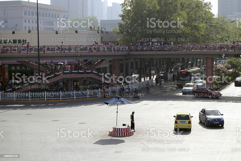 Intersection in Xi'an royalty-free stock photo