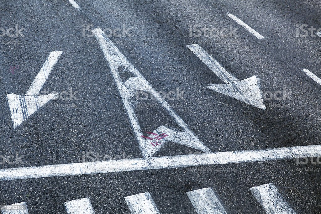 Intersection Road Marking royalty-free stock photo