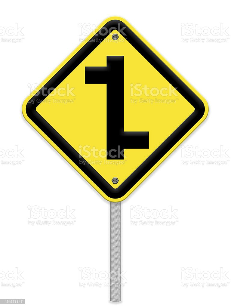 intersection sign royalty-free stock photo