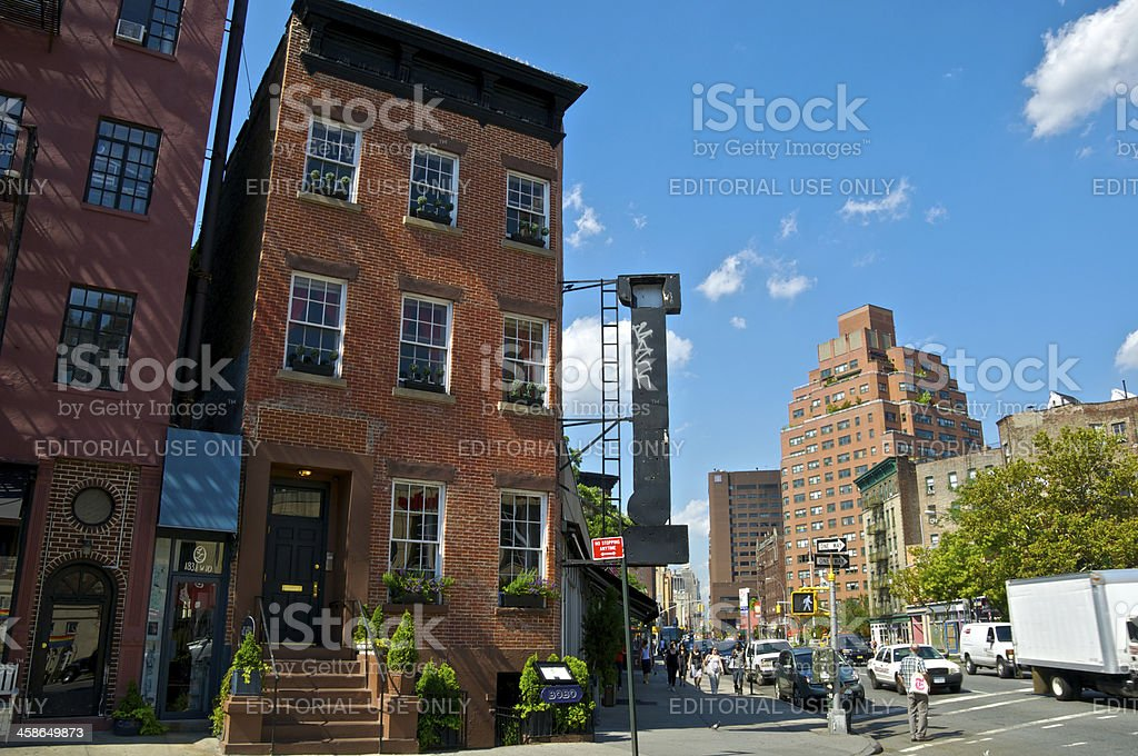NYC Intersections, 7th Ave & W10th Street, Greenwich Village, Manhattan stock photo