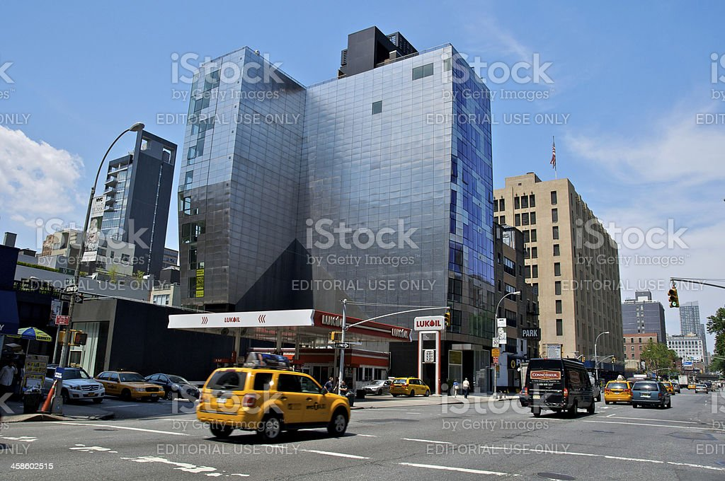 NYC Intersections, W.24th Street & 10th Avenue cityscape, Chelsea royalty-free stock photo