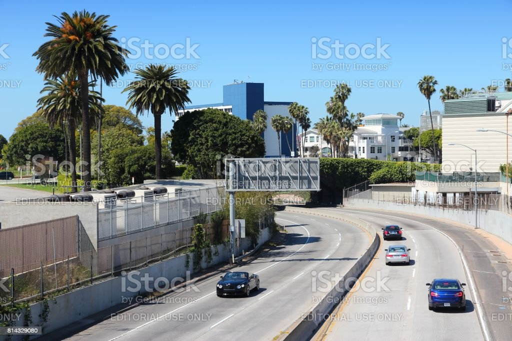 Interstate 10, California stock photo