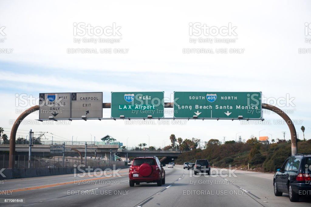 I-10 Interstate 10 Freeway stock photo
