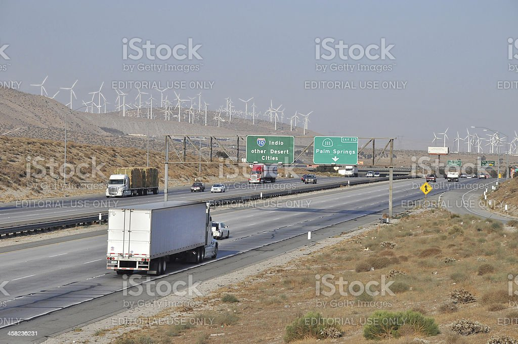Interstate 10 to Desert Cities stock photo