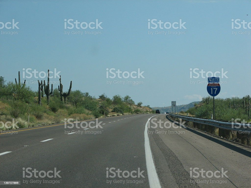Interstate 17 in the USA stock photo